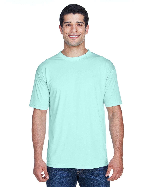 UltraClub Men's Cool & Dry Sport Performance InterlockT-Shirt SEA FROST