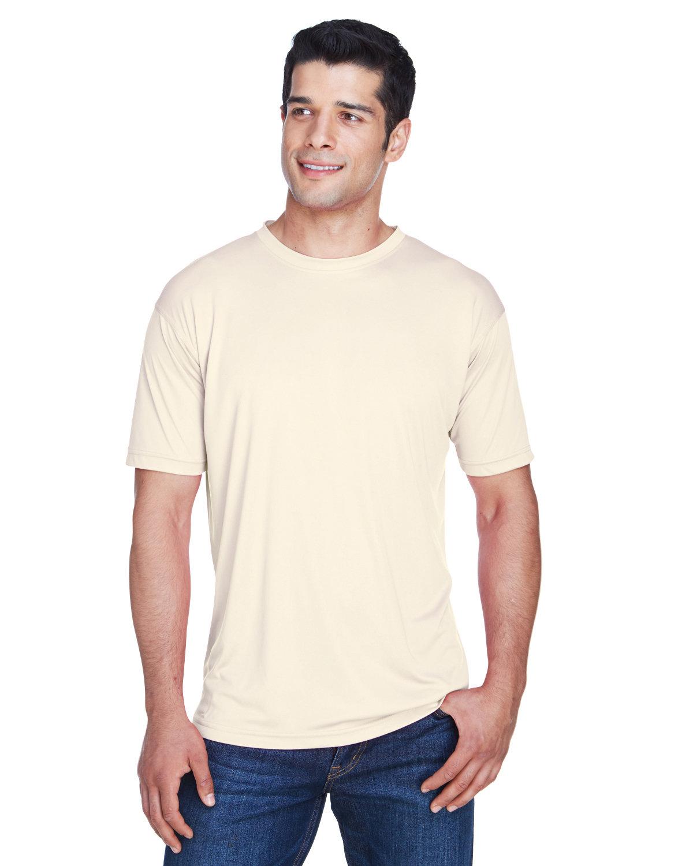 UltraClub Men's Cool & Dry Sport Performance InterlockT-Shirt STONE