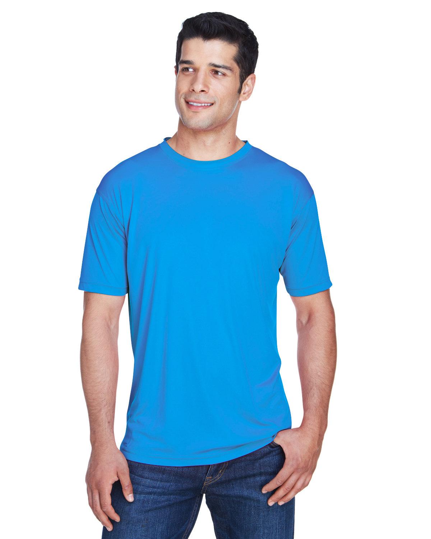 UltraClub Men's Cool & Dry Sport Performance InterlockT-Shirt PACIFIC BLUE