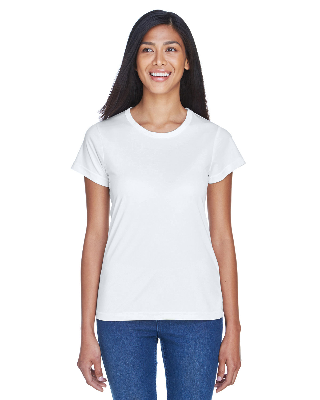 UltraClub Ladies' Cool & Dry Sport Performance InterlockT-Shirt WHITE