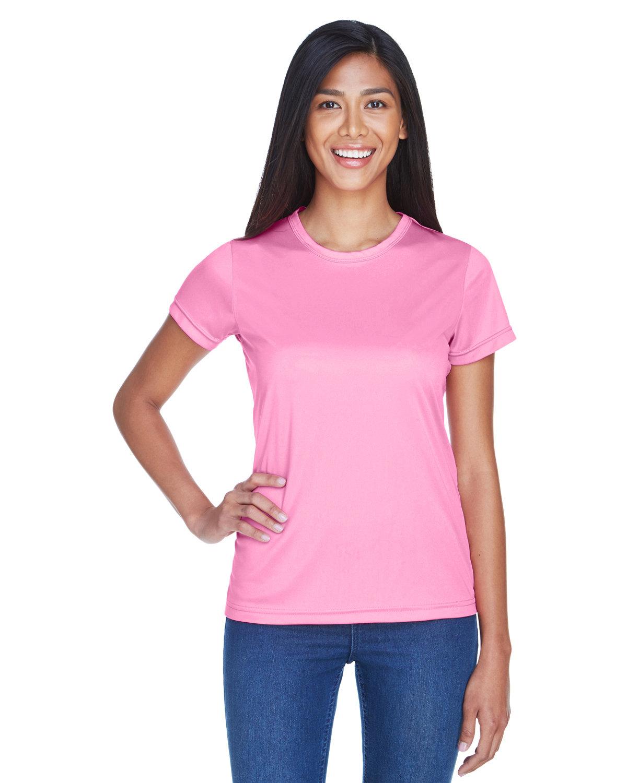 UltraClub Ladies' Cool & Dry Sport Performance InterlockT-Shirt AZALEA