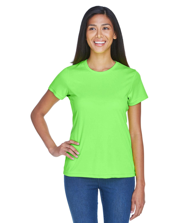 UltraClub Ladies' Cool & Dry Sport Performance InterlockT-Shirt LIME
