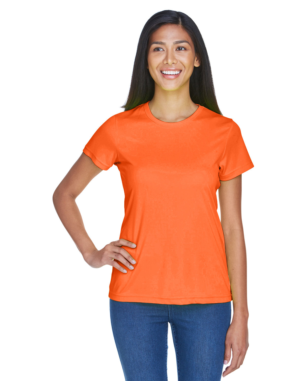 UltraClub Ladies' Cool & Dry Sport Performance InterlockT-Shirt BRIGHT ORANGE