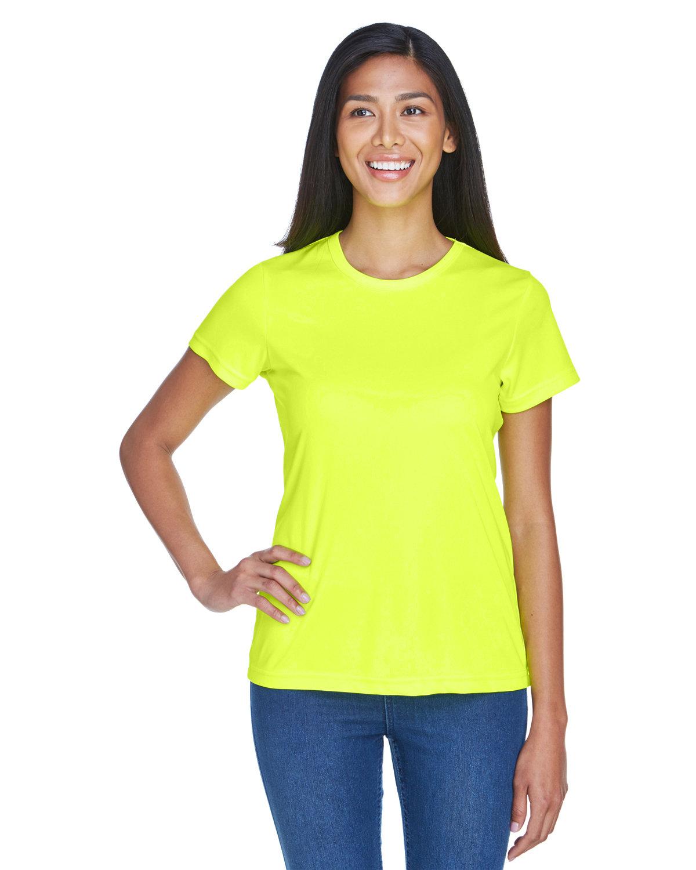 UltraClub Ladies' Cool & Dry Sport Performance InterlockT-Shirt BRIGHT YELLOW