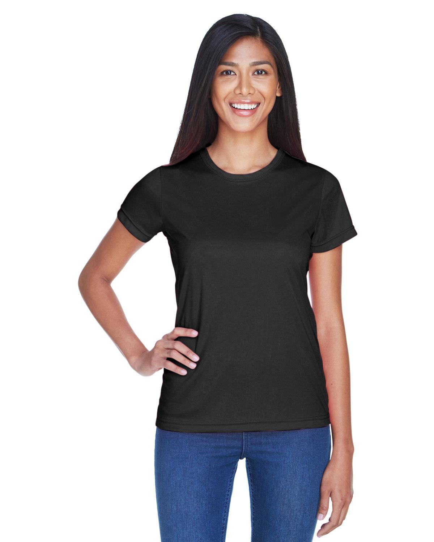 UltraClub Ladies' Cool & Dry Sport Performance InterlockT-Shirt BLACK