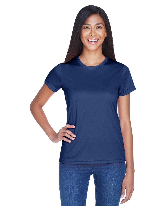 UltraClub Ladies' Cool & Dry Sport Performance InterlockT-Shirt NAVY