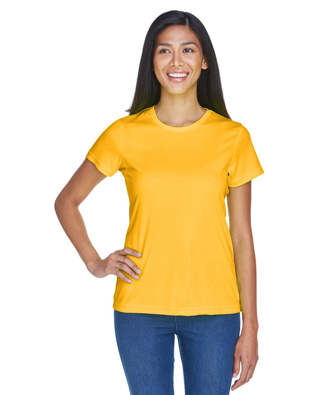 UltraClub Ladies' Cool & Dry Sport Performance InterlockT-Shirt GOLD