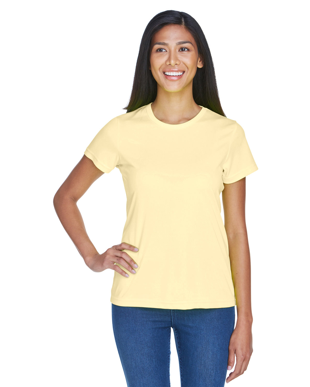 UltraClub Ladies' Cool & Dry Sport Performance InterlockT-Shirt BUTTER