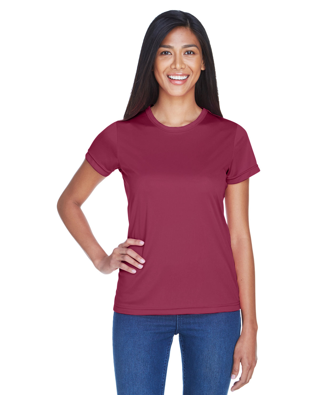 UltraClub Ladies' Cool & Dry Sport Performance InterlockT-Shirt MAROON