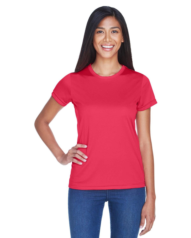 UltraClub Ladies' Cool & Dry Sport Performance InterlockT-Shirt CARDINAL