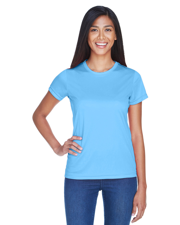 UltraClub Ladies' Cool & Dry Sport Performance InterlockT-Shirt COLUMBIA BLUE