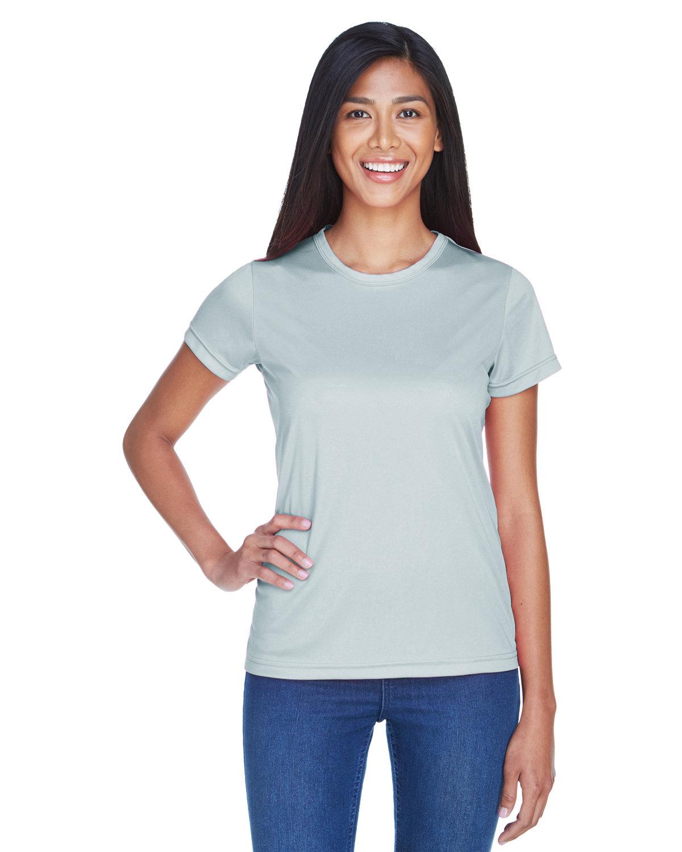 UltraClub Ladies' Cool & Dry Sport Performance InterlockT-Shirt GREY