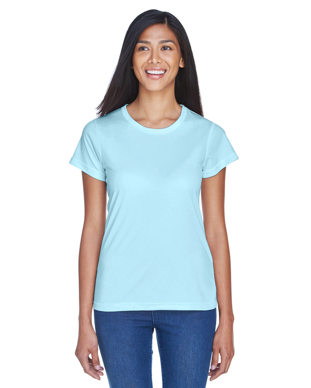 UltraClub Ladies' Cool & Dry Sport Performance InterlockT-Shirt ICE BLUE