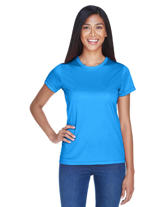 UltraClub Ladies' Cool & Dry Sport Performance InterlockT-Shirt PACIFIC BLUE