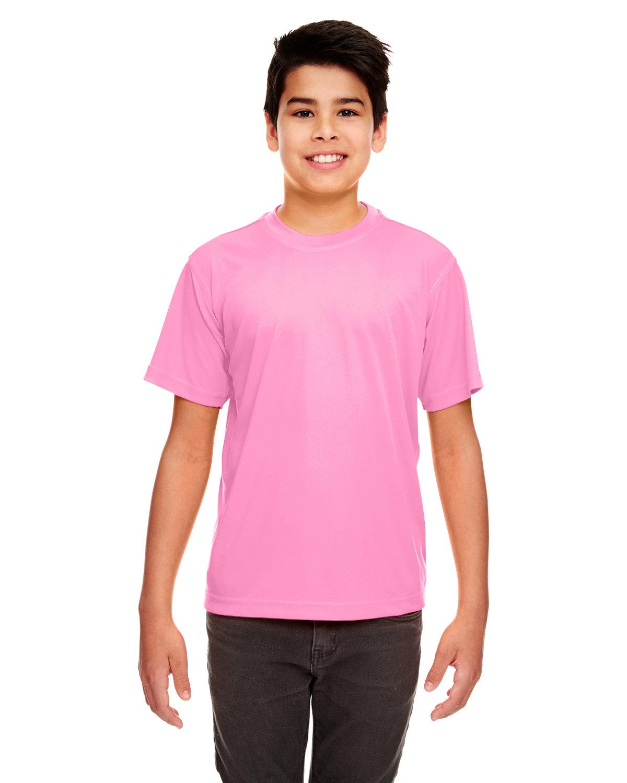 UltraClub Youth Cool & Dry Sport Performance InterlockT-Shirt AZALEA