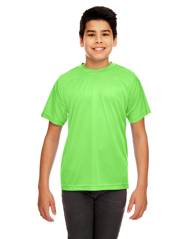 UltraClub Youth Cool & Dry Sport Performance InterlockT-Shirt LIME