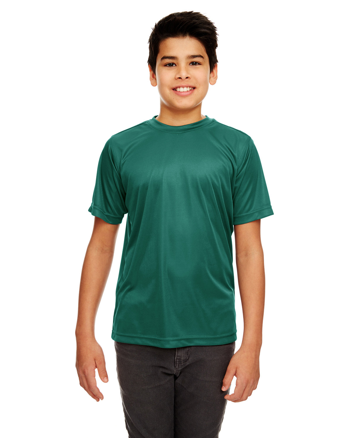 UltraClub Youth Cool & Dry Sport Performance InterlockT-Shirt FOREST GREEN