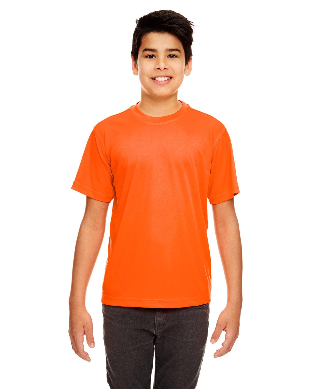 UltraClub Youth Cool & Dry Sport Performance InterlockT-Shirt BRIGHT ORANGE