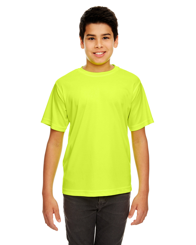 UltraClub Youth Cool & Dry Sport Performance InterlockT-Shirt BRIGHT YELLOW