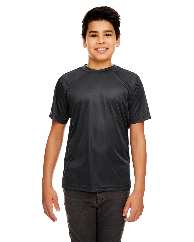 UltraClub Youth Cool & Dry Sport Performance InterlockT-Shirt BLACK