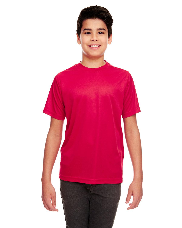 UltraClub Youth Cool & Dry Sport Performance InterlockT-Shirt RED