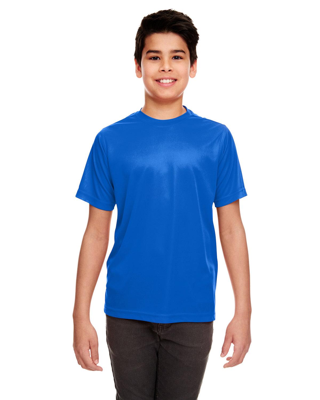 UltraClub Youth Cool & Dry Sport Performance InterlockT-Shirt ROYAL