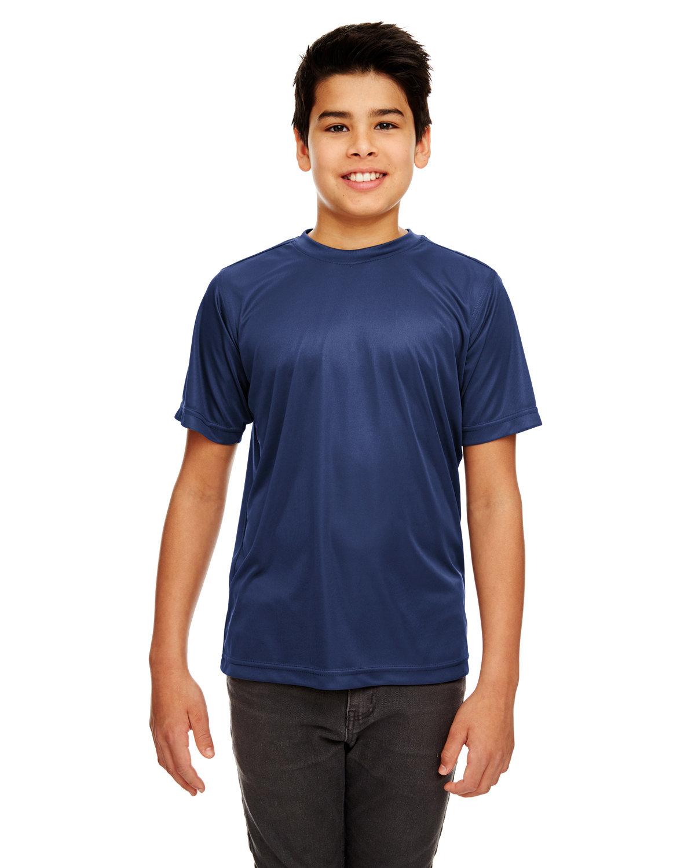 UltraClub Youth Cool & Dry Sport Performance InterlockT-Shirt NAVY