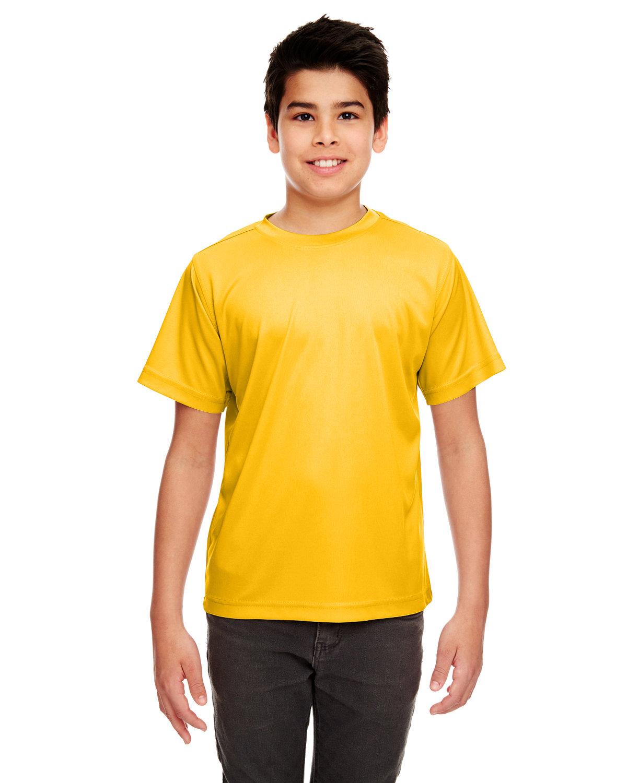UltraClub Youth Cool & Dry Sport Performance InterlockT-Shirt GOLD
