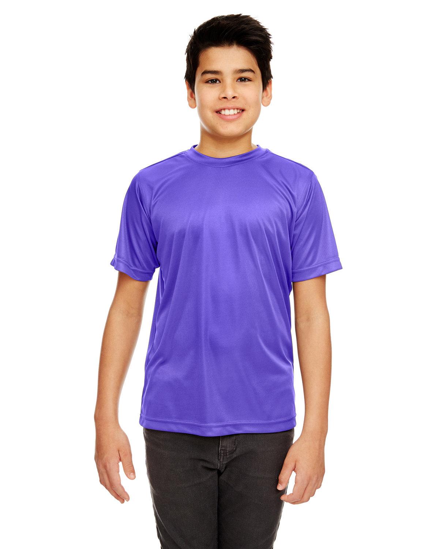 UltraClub Youth Cool & Dry Sport Performance InterlockT-Shirt PURPLE
