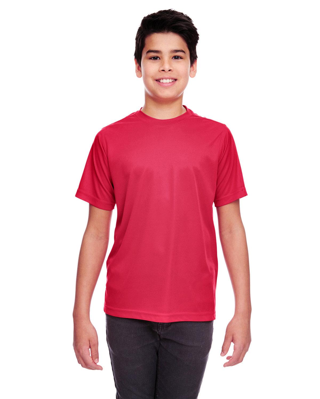 UltraClub Youth Cool & Dry Sport Performance InterlockT-Shirt CARDINAL