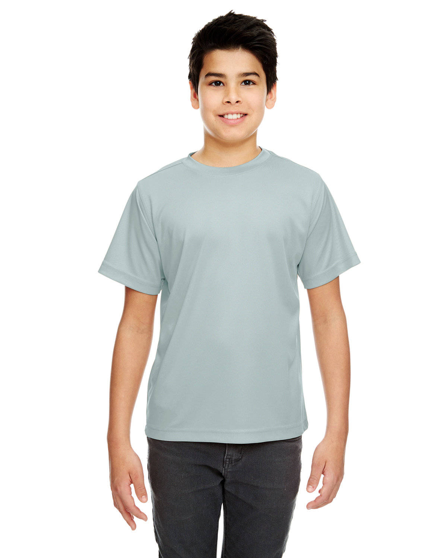 UltraClub Youth Cool & Dry Sport Performance InterlockT-Shirt GREY