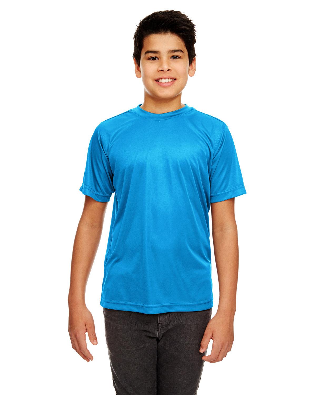 UltraClub Youth Cool & Dry Sport Performance InterlockT-Shirt SAPPHIRE