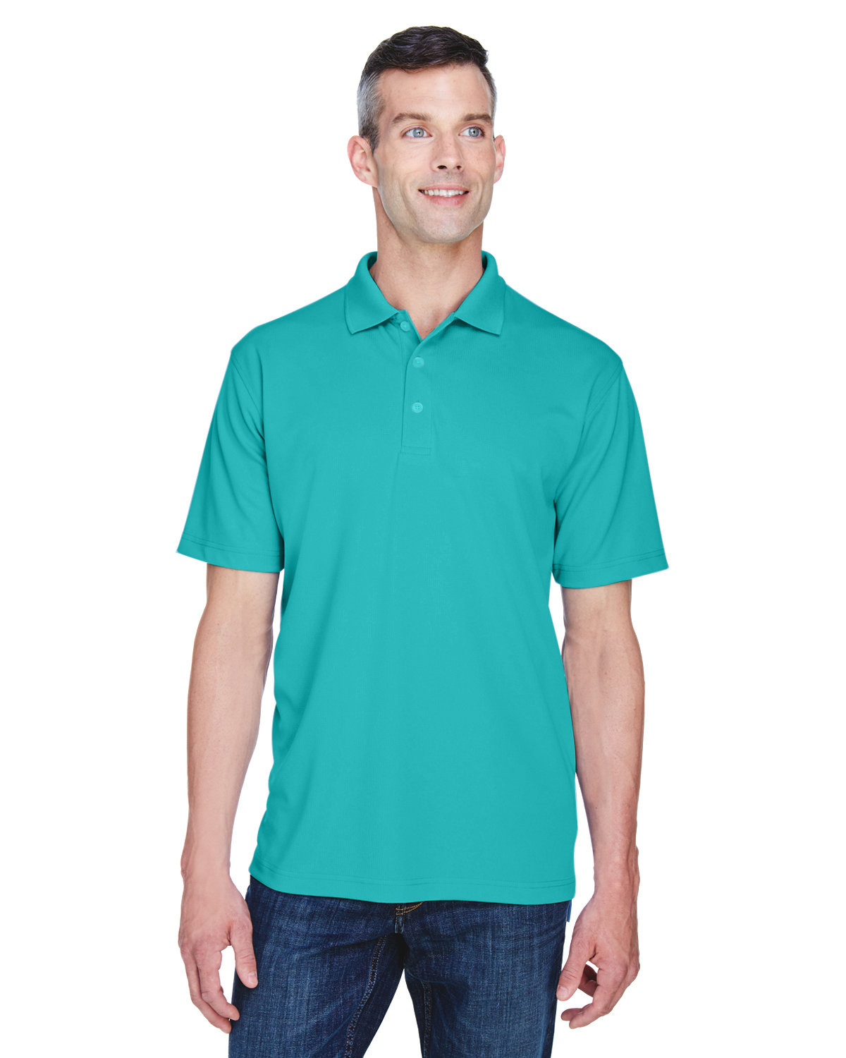 UltraClub Men's Cool & Dry Stain-Release Performance Polo JADE