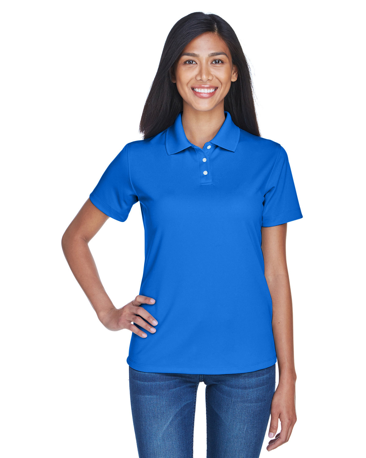 UltraClub Ladies' Cool & Dry Stain-Release Performance Polo ROYAL