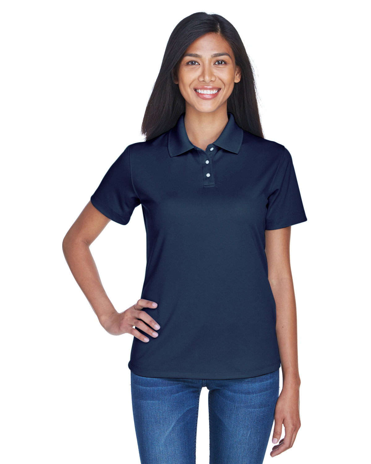 UltraClub Ladies' Cool & Dry Stain-Release Performance Polo NAVY