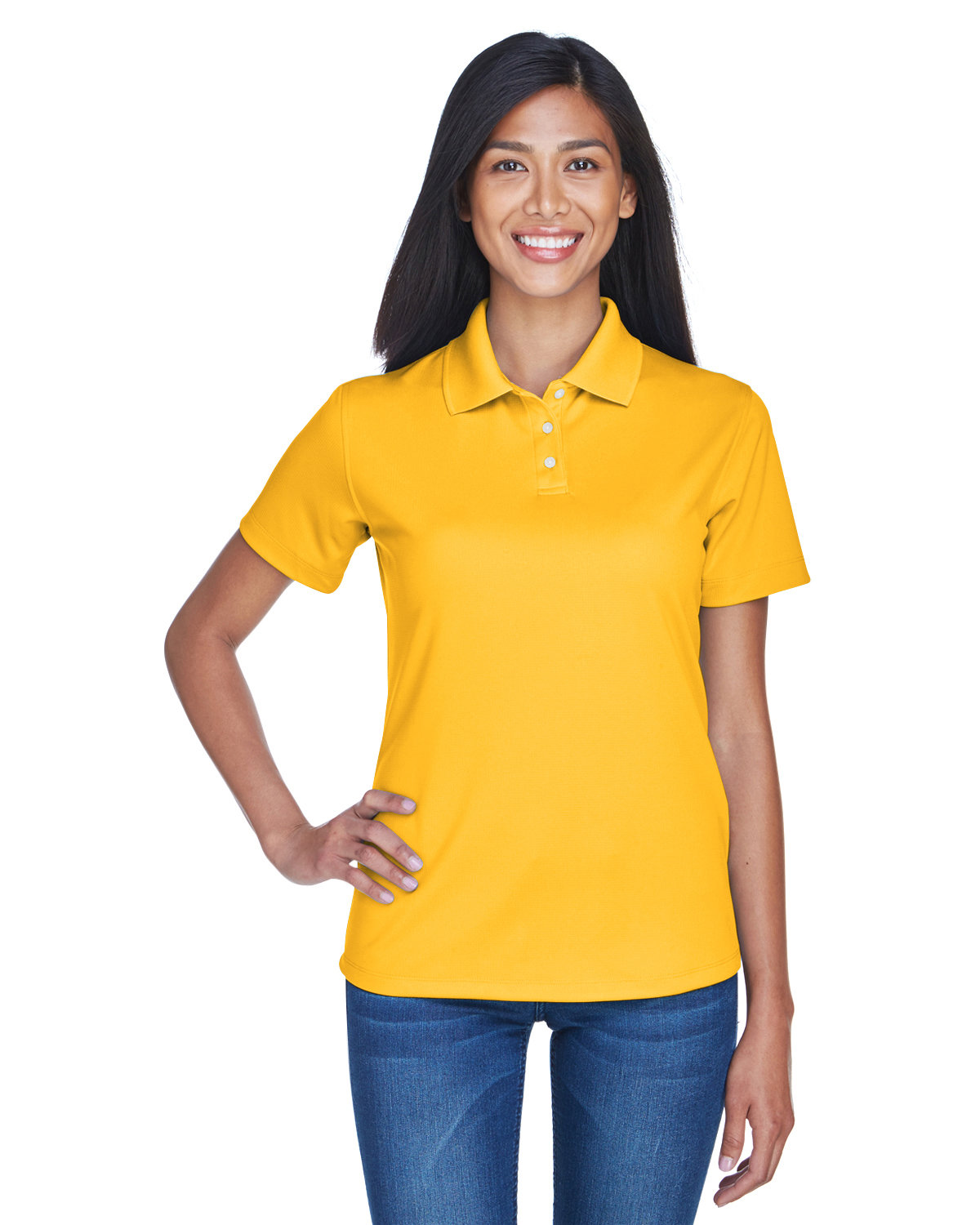 UltraClub Ladies' Cool & Dry Stain-Release Performance Polo GOLD