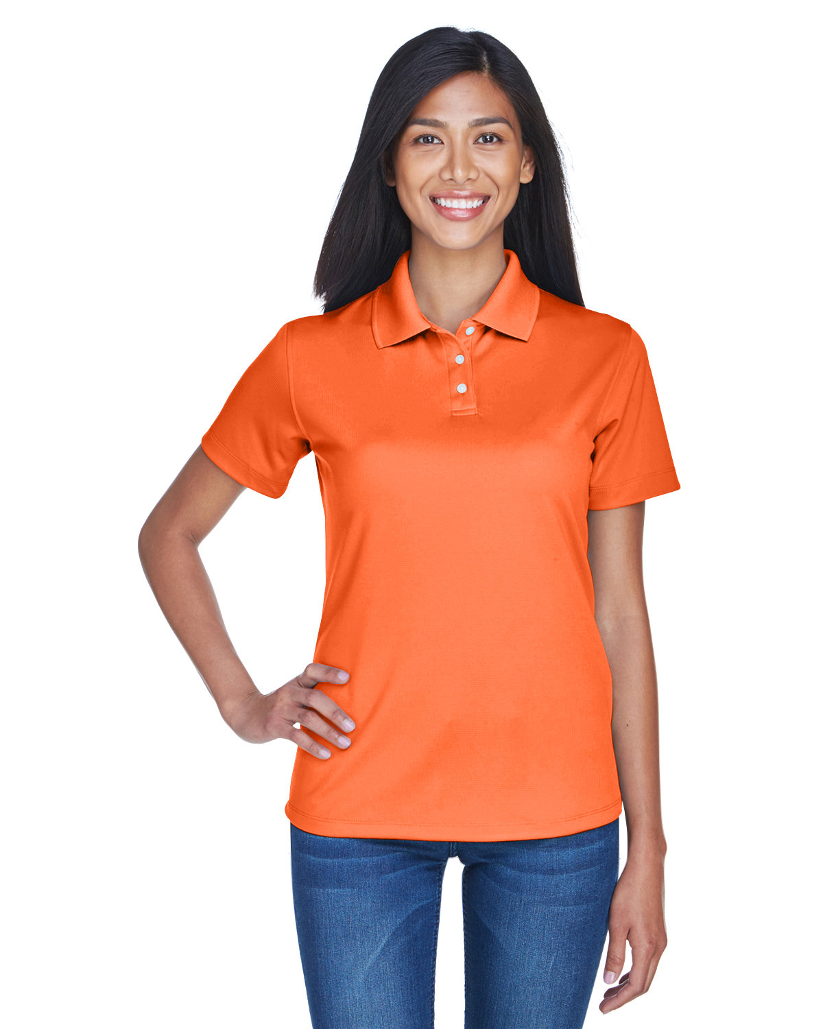 UltraClub Ladies' Cool & Dry Stain-Release Performance Polo ORANGE