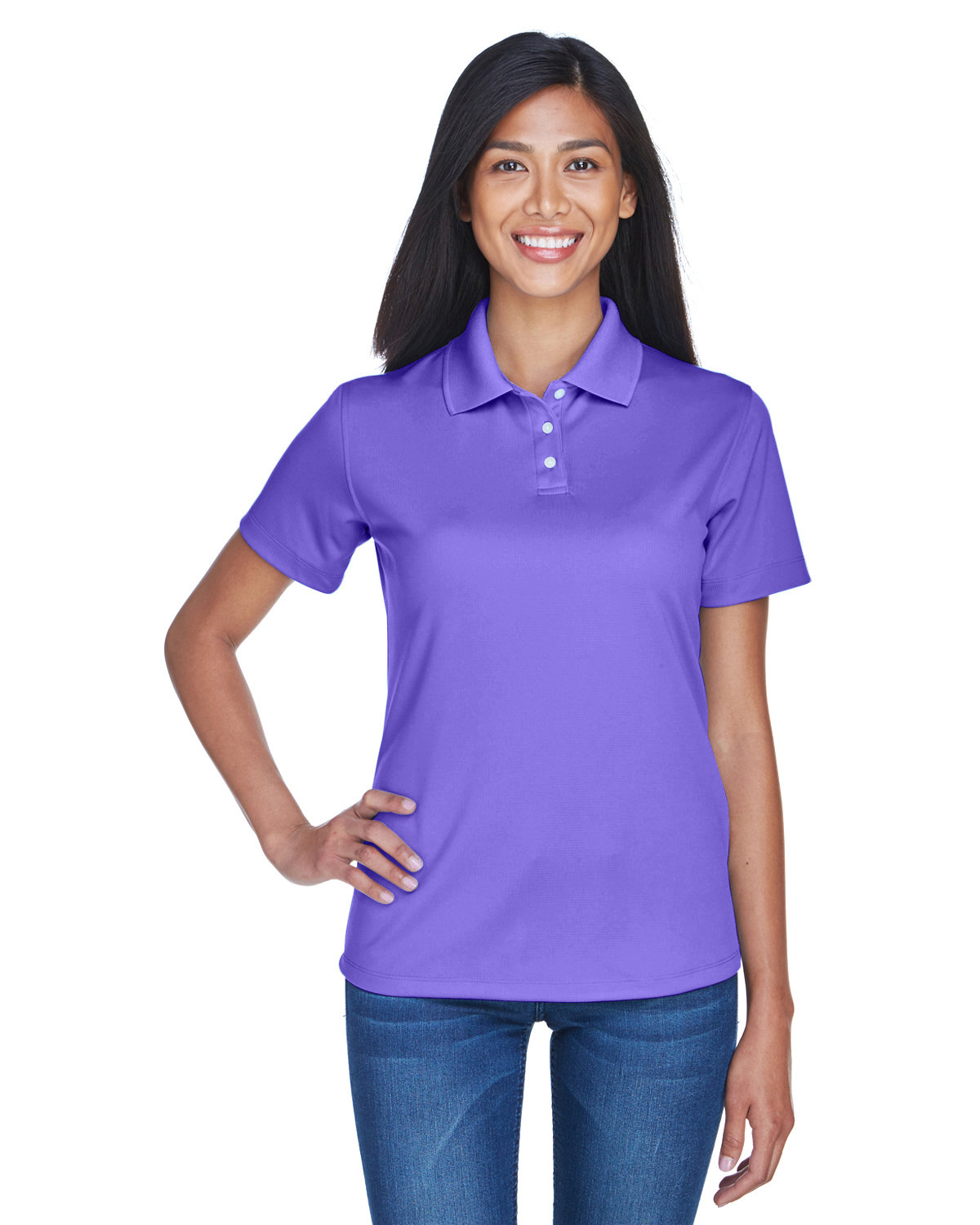 UltraClub Ladies' Cool & Dry Stain-Release Performance Polo PURPLE