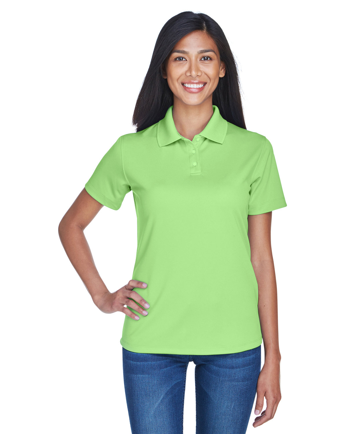 UltraClub Ladies' Cool & Dry Stain-Release Performance Polo LIGHT GREEN