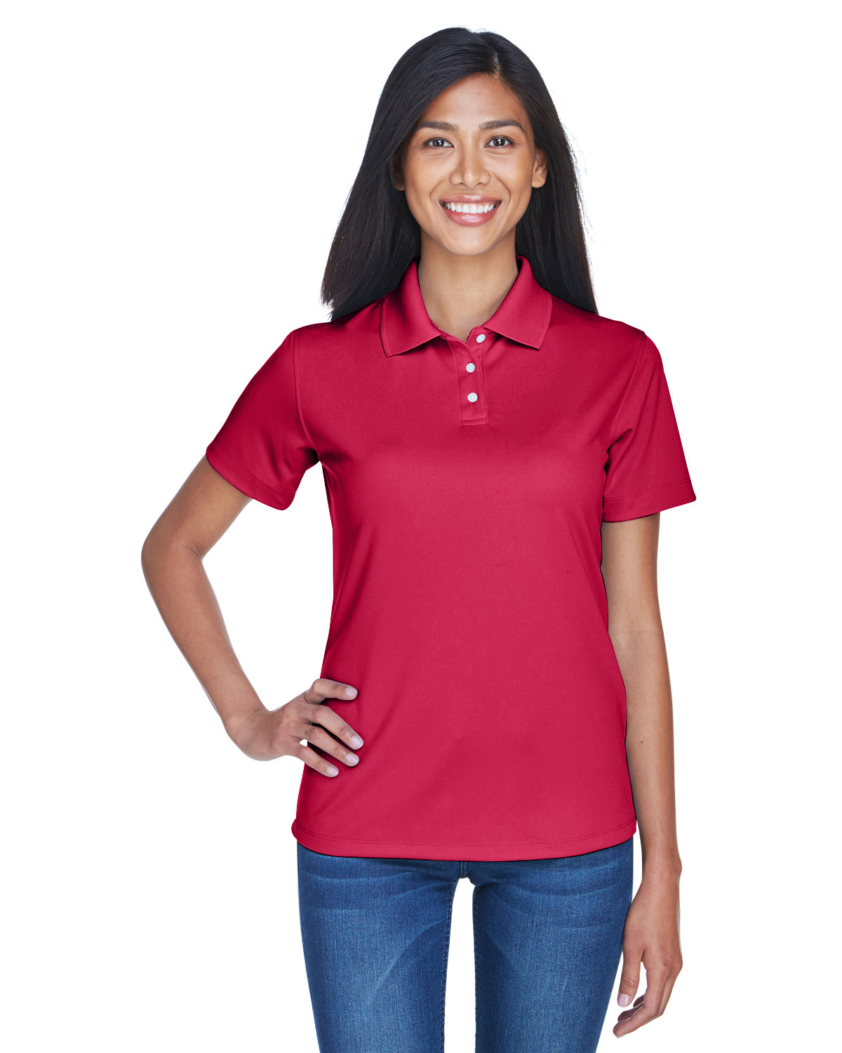 UltraClub Ladies' Cool & Dry Stain-Release Performance Polo CARDINAL
