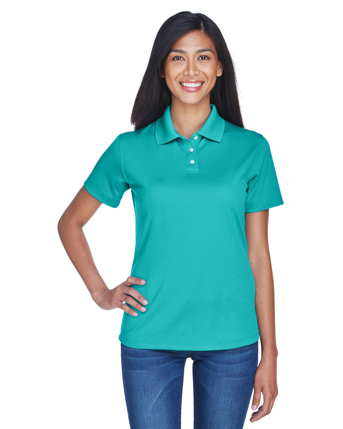 UltraClub Ladies' Cool & Dry Stain-Release Performance Polo JADE