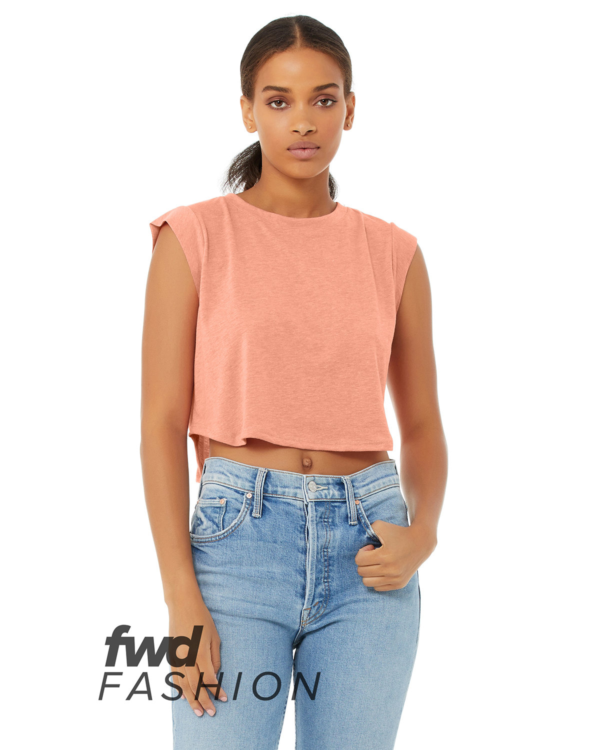 Bella + Canvas FWD Fashion Ladies' Festival Cropped Tank SUNSET TRIBLEND