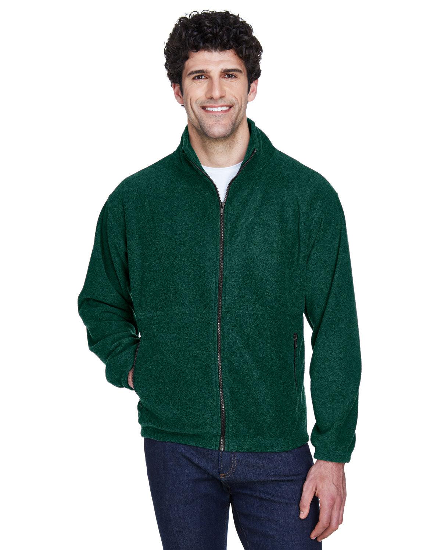UltraClub Men's Iceberg Fleece Full-Zip Jacket FOREST GREEN