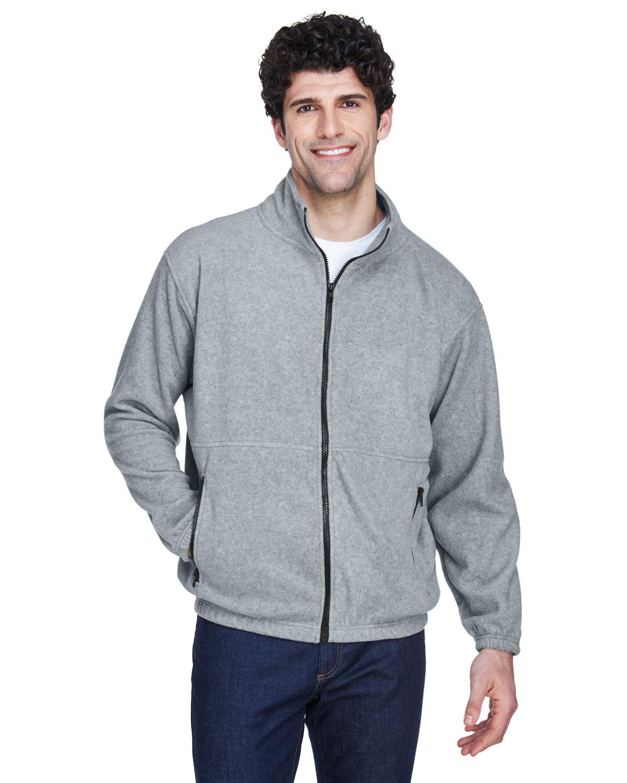 UltraClub Men's Iceberg Fleece Full-Zip Jacket GREY HEATHER