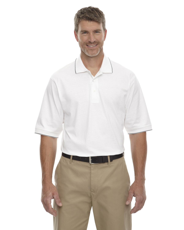 Extreme Men's Cotton Jersey Polo WHITE/ BLACK