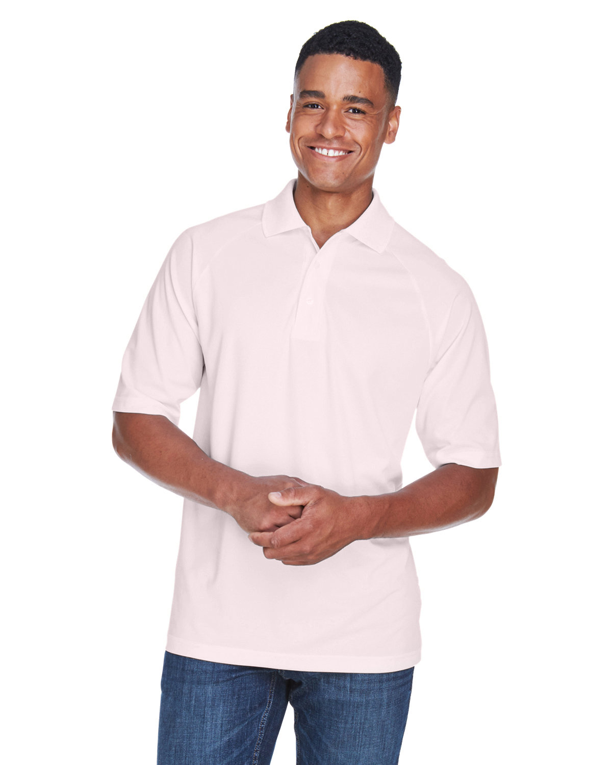 Extreme Men's Eperformance™ Piqué Polo POWDER PINK