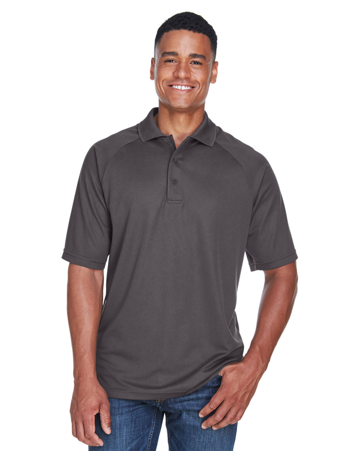 Extreme Men's Eperformance™ Piqué Polo BLACK SILK