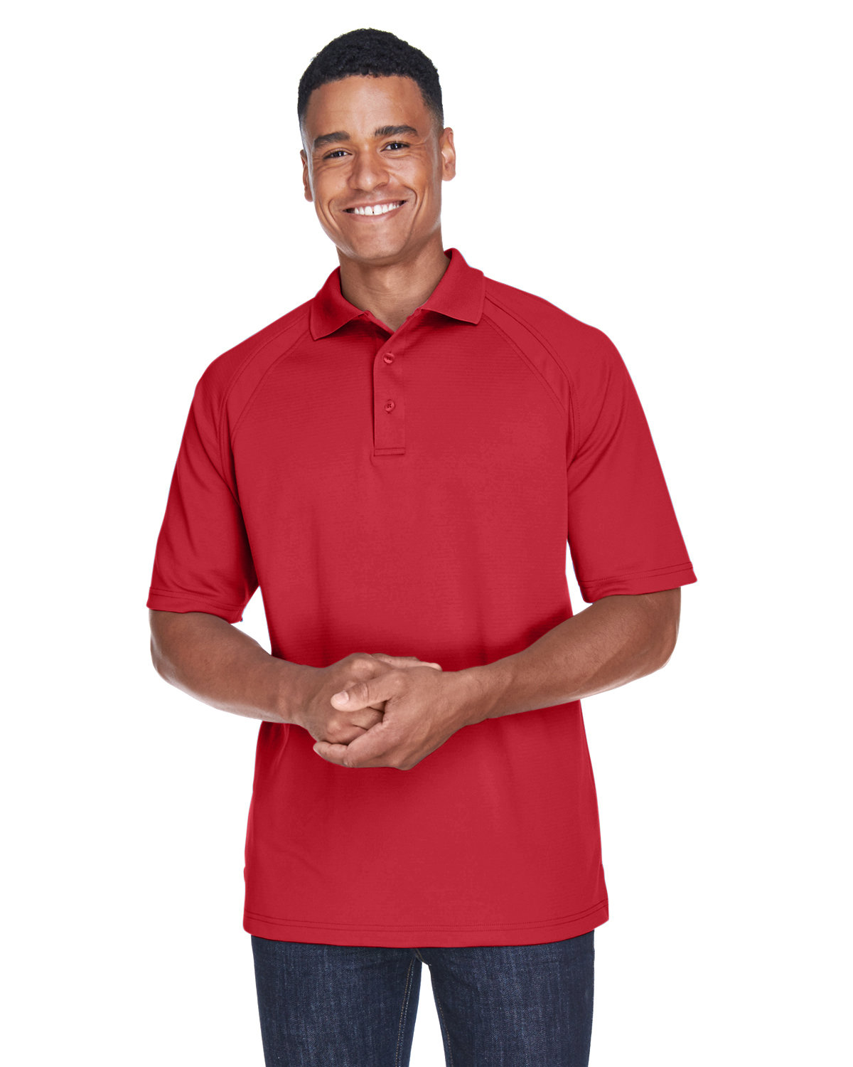 Extreme Men's Eperformance™ Ottoman Textured Polo CLASSIC RED