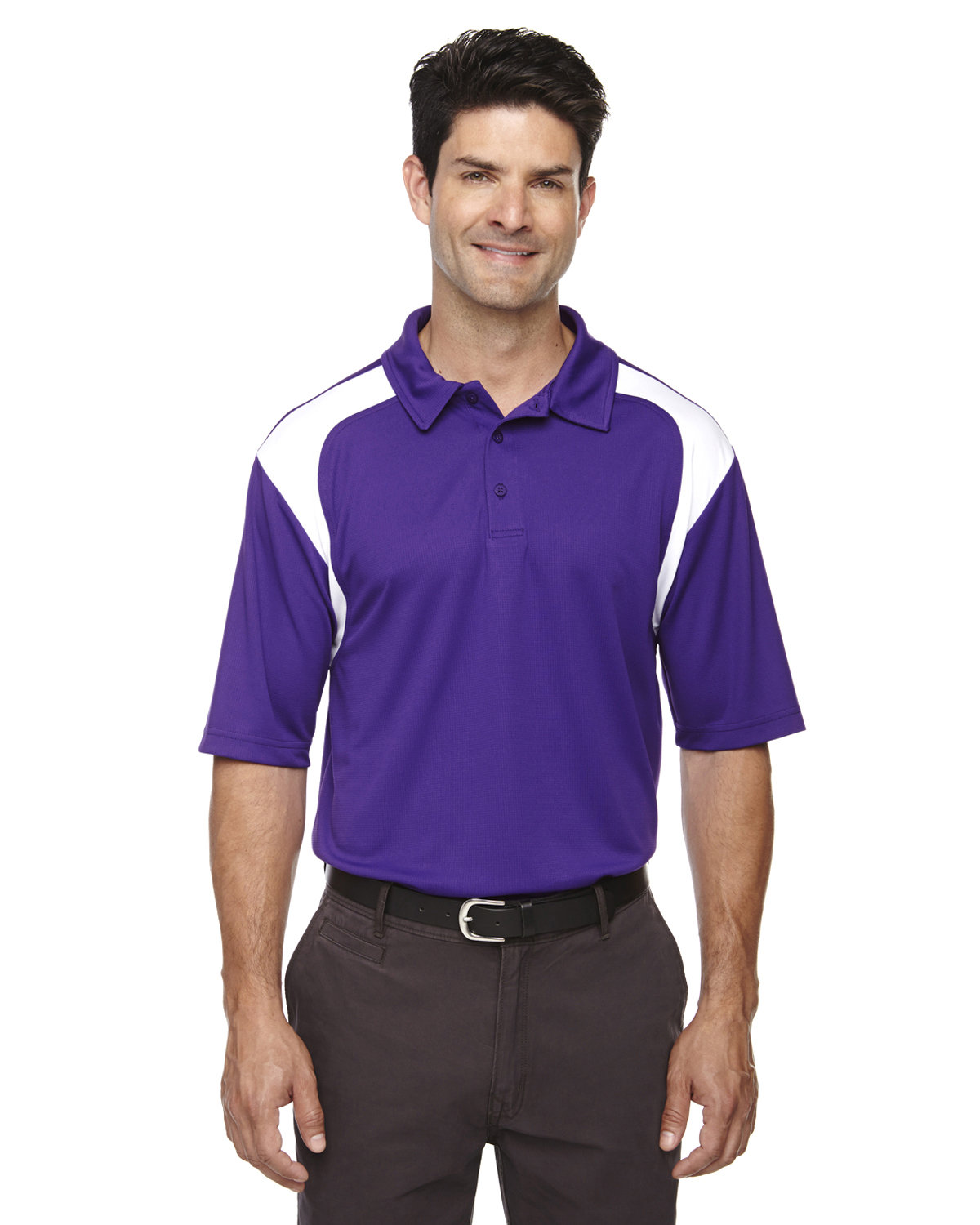 Extreme Men's Eperformance™ Colorblock Textured Polo CAMPUS PURPLE