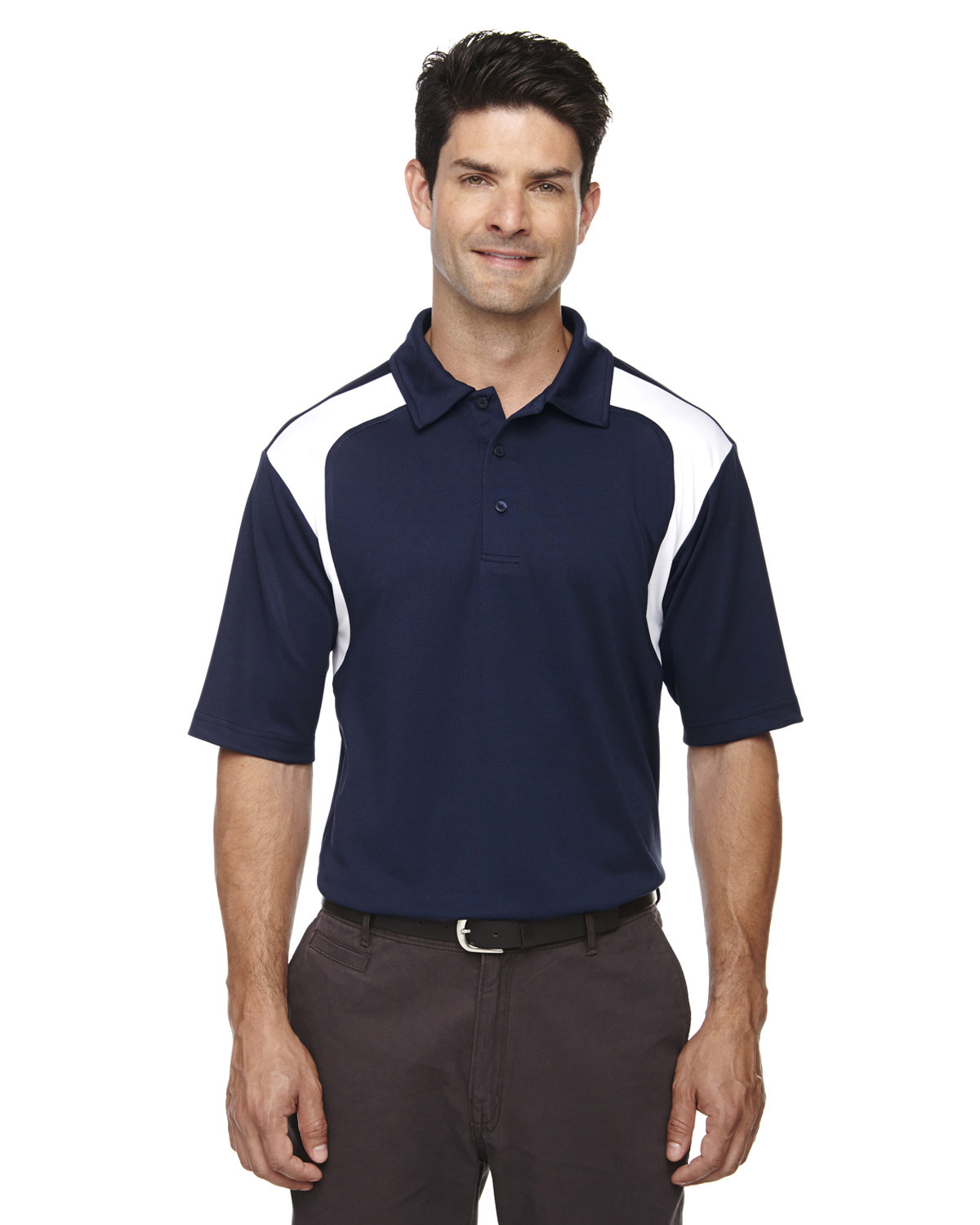 Extreme Men's Eperformance™ Colorblock Textured Polo CLASSIC NAVY